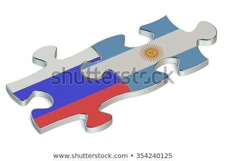 Argentina russo quebra-cabeça vetor imagem isolado Foto stock © Istanbul2009
