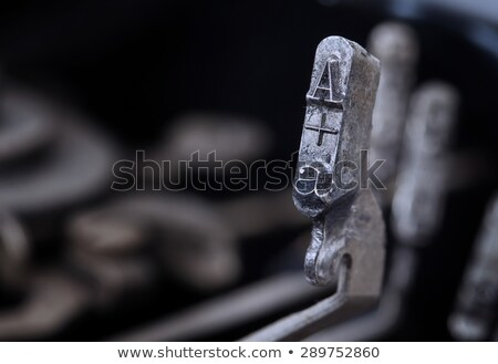 A hammer - old manual typewriter - cold blue filter Stock photo © michaklootwijk