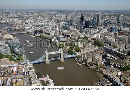 antenne · Londen · stad · Tower · Bridge · nacht · tijd - stockfoto © AndreyKr