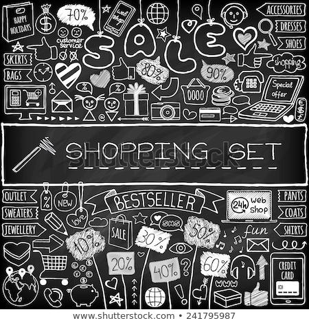 lousa · giz · mercado · lacuna · fundo · educação - foto stock © rastudio