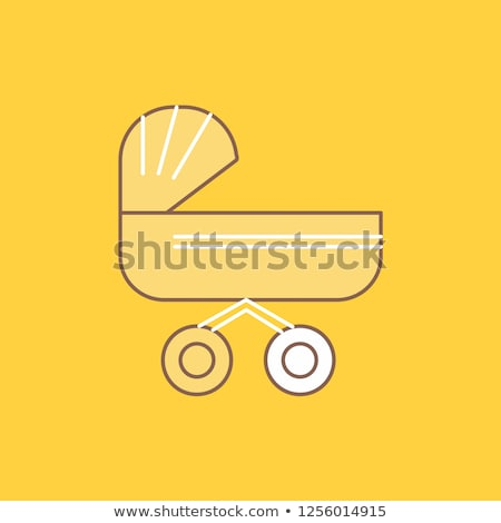 trolly yellow vector icon button stock photo © rizwanali3d
