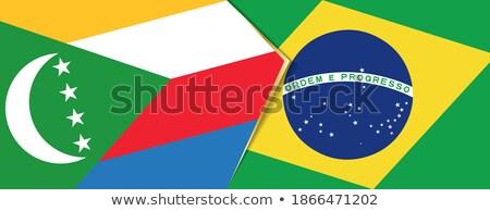 Brezilya Komorlar bayraklar bilmece yalıtılmış beyaz Stok fotoğraf © Istanbul2009