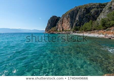 Греция лет природы пейзаж морем горные Сток-фото © jeancliclac