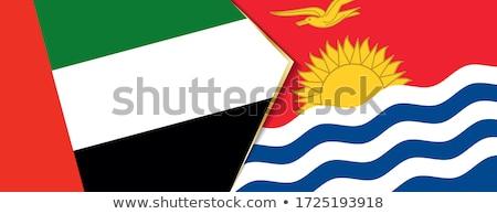 Egyesült Arab Emírségek Kiribati zászlók puzzle izolált fehér Stock fotó © Istanbul2009