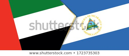 United Arab Emirates and Nicaragua Flags Stock photo © Istanbul2009