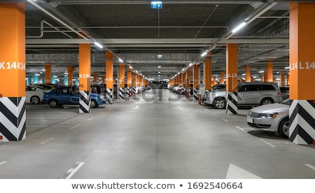 Parking garage, car in underground interior stock photo © blasbike