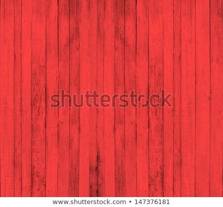 Schäbig rot gemalt Holz Hintergrund Stock foto © asturianu