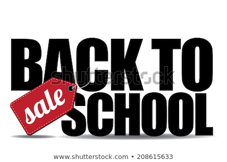Foto stock: De · volta · à · escola · venda · eps · 10 · cartaz · texto
