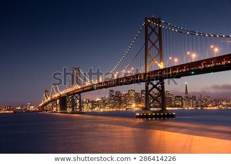 Photo stock: Crépuscule · pont · San · Francisco · Skyline · Californie · vue