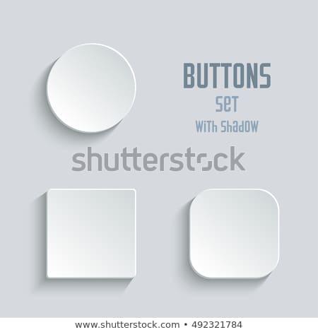 Blanco botón aislado 3d cuadrados imagen Foto stock © Koufax73