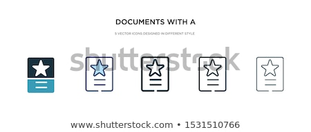 Icons with the different mailing tools Stock photo © bluering