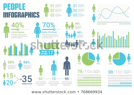 An infochart with statistics of people Stock photo © bluering