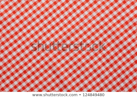 fabric in a red and white cell Stock photo © shutswis
