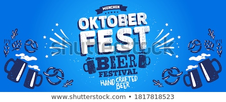 Oktoberfest Banner Beer Pretzel Bavarian Header Stock photo © limbi007