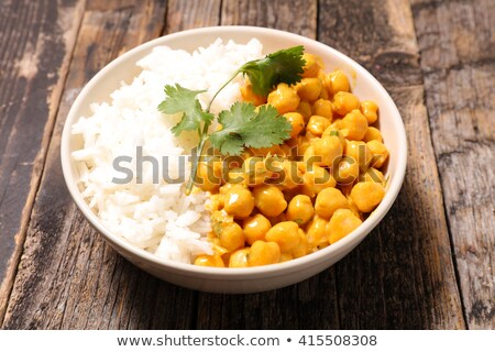 chickpea cooked with cream and rice Stock photo © M-studio