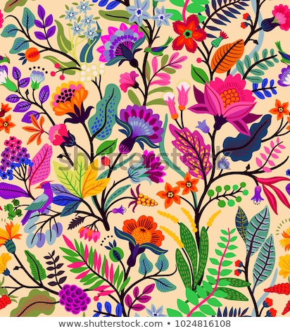 colourful floral designs stock photo © bluering