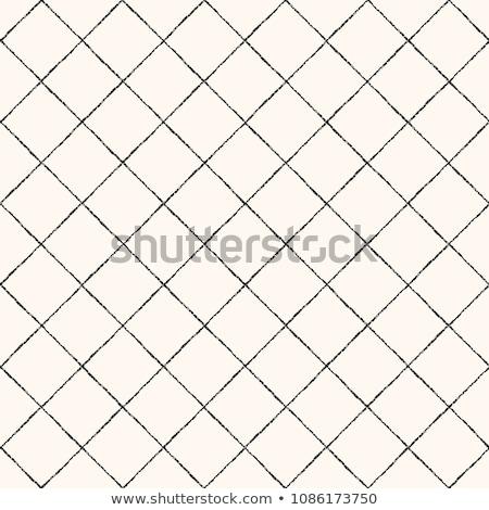 Vector Seamless Black and White Hand Drawn Rhombus Pattern Stock photo © CreatorsClub