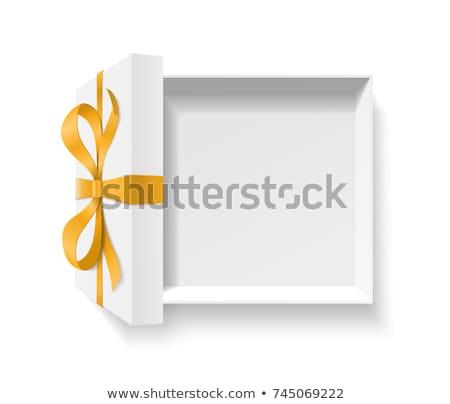 Orange Geschenkbox weiß Band Design schönen Stock foto © robuart