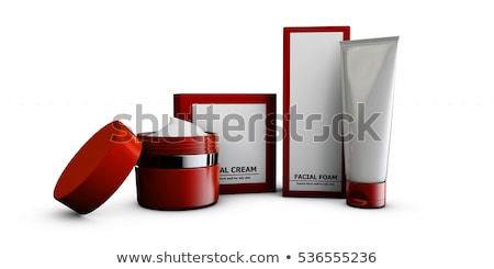 3d Illustration of cream with box on white backround Stock photo © tussik