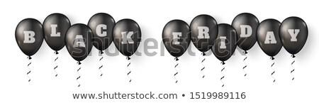 Black friday vente noir sphères jaune Photo stock © SArts