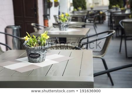 empty little tables of cafeteria Stock photo © ssuaphoto