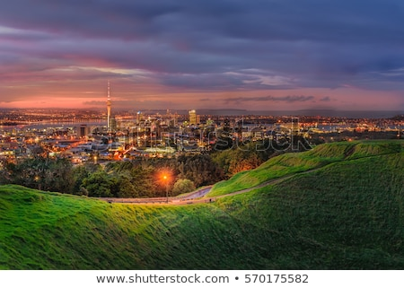 Crater of Mount Eden in New Zealand Stock photo © oliverfoerstner