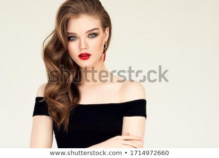 Mooie vrouw avond make sieraden schoonheid mode Stockfoto © julenochek