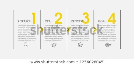 Vier Schritte Design Präsentation Workflow Stock foto © SArts
