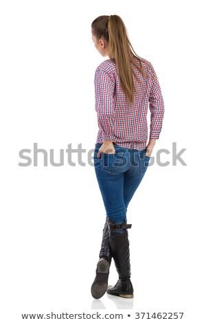 вид сзади стороны кармана белый ребенка Сток-фото © wavebreak_media