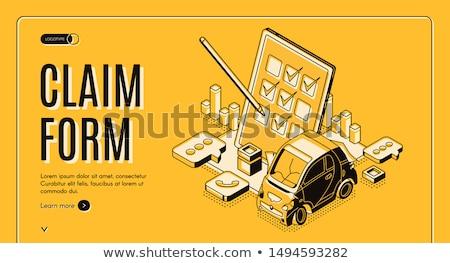 mlm · tekst · 3D · papier · vel - stockfoto © tashatuvango