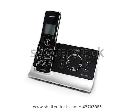 drótnélküli · telefon · izolált · fehér · iroda · telefon - stock fotó © digitalr