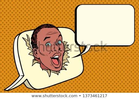 Afrika kabarcık iletişim yazışma pop art Stok fotoğraf © studiostoks