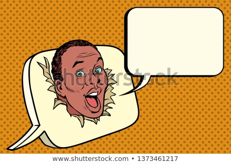 African Blase Kommunikation Korrespondenz Pop-Art Stock foto © studiostoks