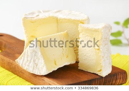 Peynir beyaz tekerlek bir Stok fotoğraf © Digifoodstock