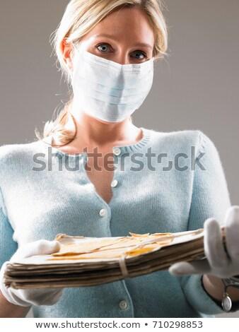 Vrouw masker kostbaar bestanden geschiedenis Stockfoto © IS2