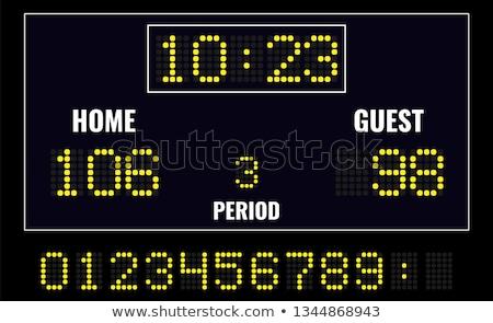 Hockey sport digitale scorebord geïsoleerd witte Stockfoto © konturvid