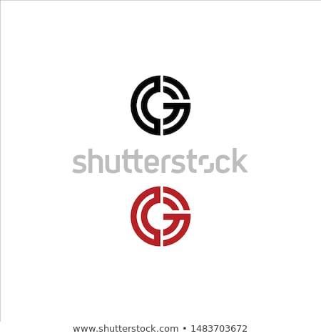 Brief logo symbool vorm combinatie brieven Stockfoto © meisuseno