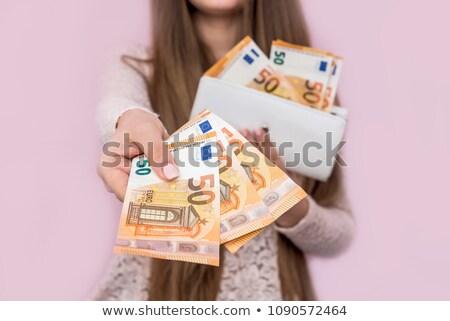девушки кошелька банка сведению Сток-фото © IS2