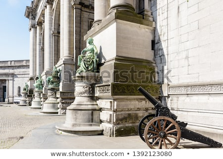 Brüsszel ív virágok épület városi Európa Stock fotó © vichie81