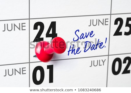 Wall calendar with a red pin - June 24 Stock photo © Zerbor