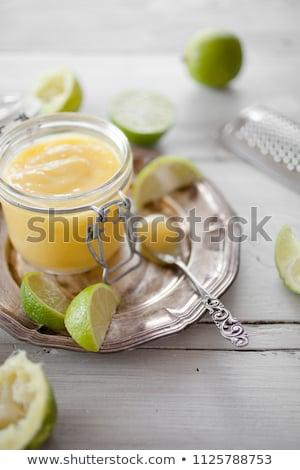 Ev yapımı kireç cam kavanoz taze yumurta Stok fotoğraf © Melnyk