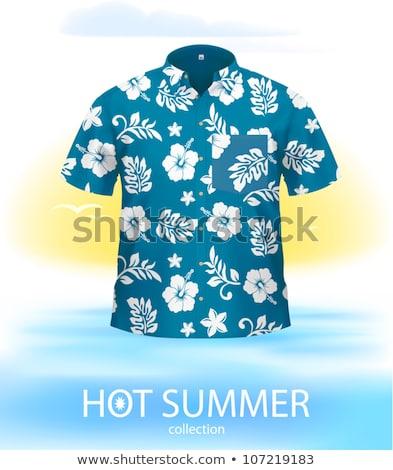 White short sleeved men_complex Stock photo © toyotoyo