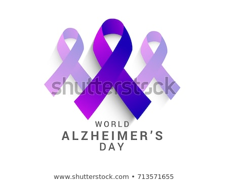 purple ribbon and text world alzheimers day Stock photo © nito
