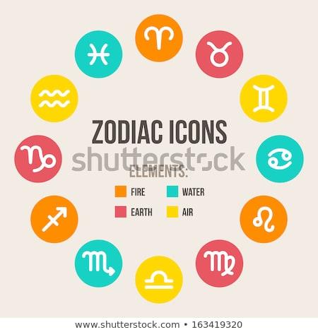 astrologia · segno · zodiaco · alfabeto - foto d'archivio © cidepix