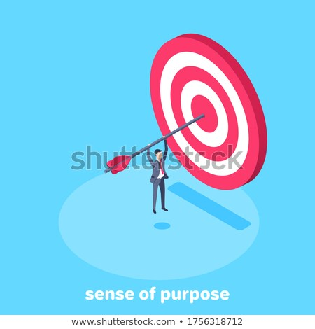 Business sense and strategy isometric flat vector concept. Stock photo © TarikVision
