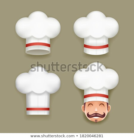 Realistic Stylish 3D Chef Cook Hat, Design of Cap Stock photo © robuart