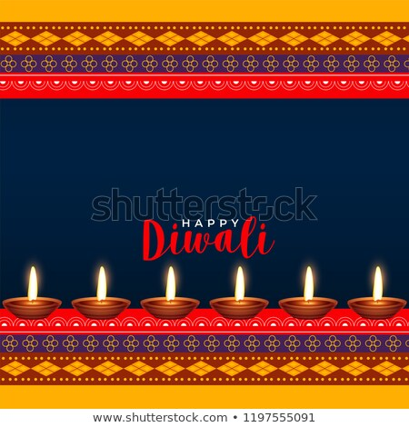 hindu diwali festival ethinc style greeting design Stock photo © SArts