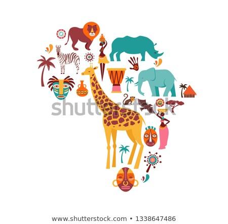 Cartoon elefante artesanía ilustración artes escritorio Foto stock © cthoman