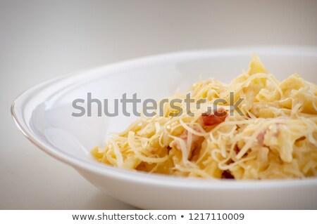 fresche · gustoso · maccheroni · servito · piatto - foto d'archivio © imaagio