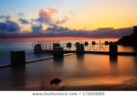 Playa piscina la exposición a largo océano manana luz Foto stock © lovleah